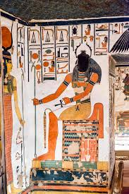 Tom of Nefertari . in a back you can see Khepri whit his beetle face