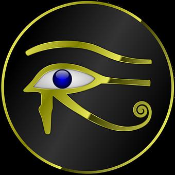 œil d'Horus , œil dessiné .
