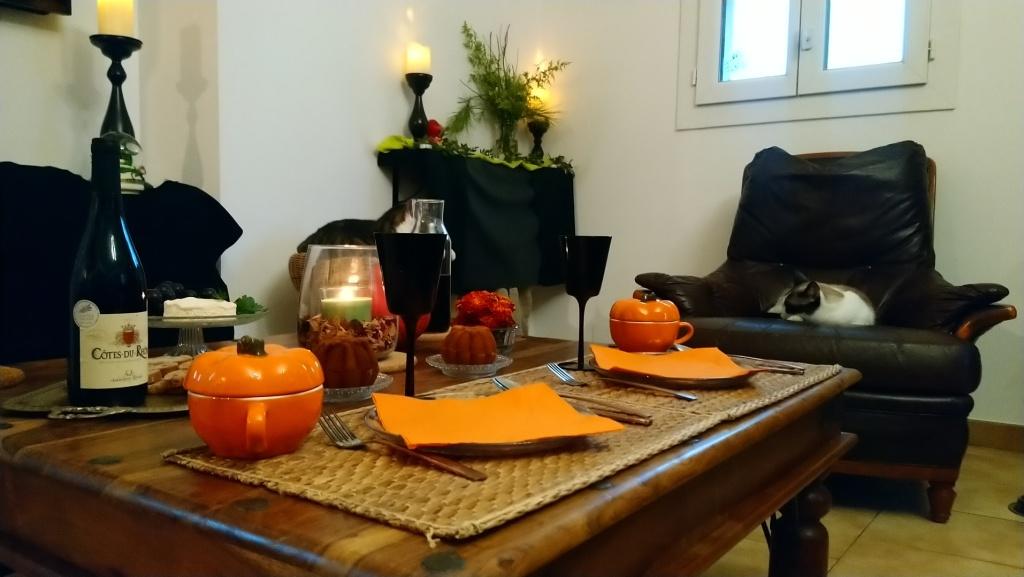 table preparée pour Mabon
