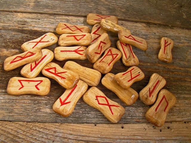 runes de bois